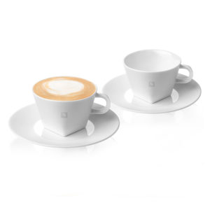 Cappuccino Cups & Saucers Pure Collection